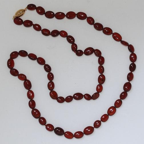 hessonite garnet necklace elaina designs